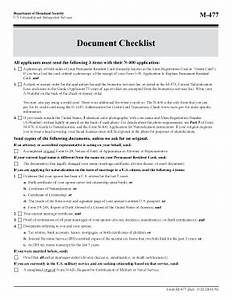 m 477 checklist fill online printable fillable blank With document checklist uscis