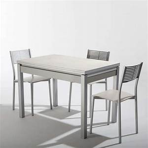 Petite Table Extensible : petite table de cuisine extensible en c ramique avec tiroir pieds alu iris 4 ~ Teatrodelosmanantiales.com Idées de Décoration
