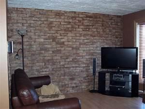 Fausse Pierre Murale Intérieur : decoration mur fausse brique ~ Preciouscoupons.com Idées de Décoration