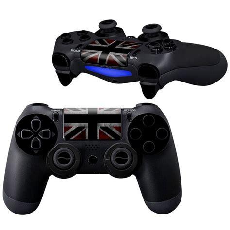 Black White Uk Flag Ps4 Controller Skin Full Buttons Kit