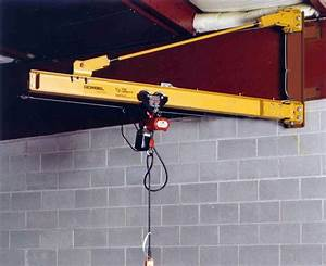 Gorbel 1  2 Ton Wall Bracket Jib Crane 20 Foot Span