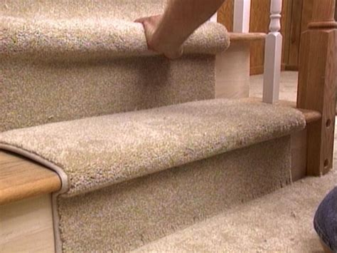how to install carpet on stairs how to install a carpet runner on stairs hgtv