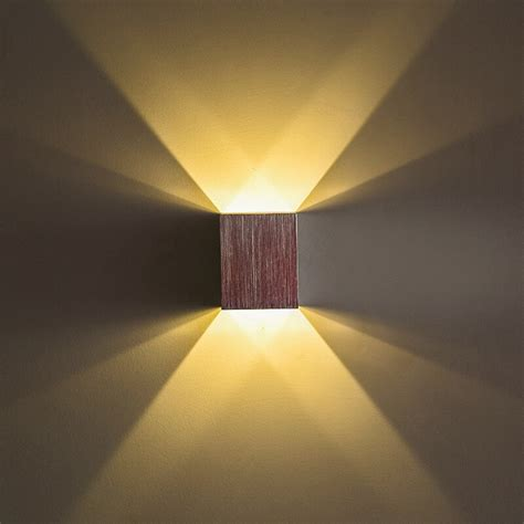 modern led wall light square chrome plated aluminum wall sconce decoration light for aisle