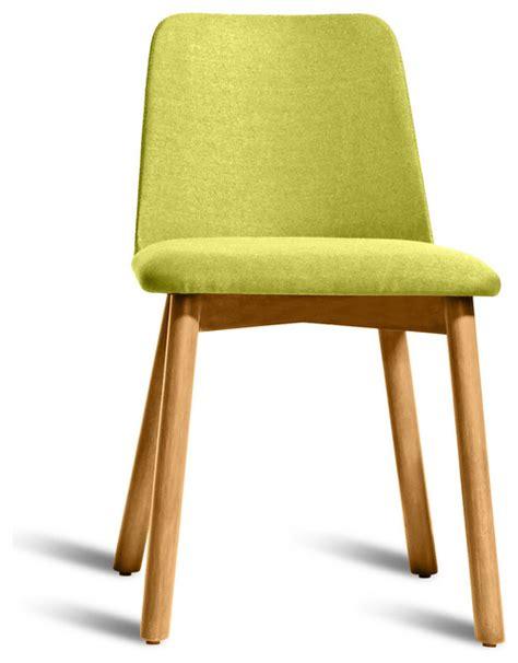 dot chip dining chair white oak bright green