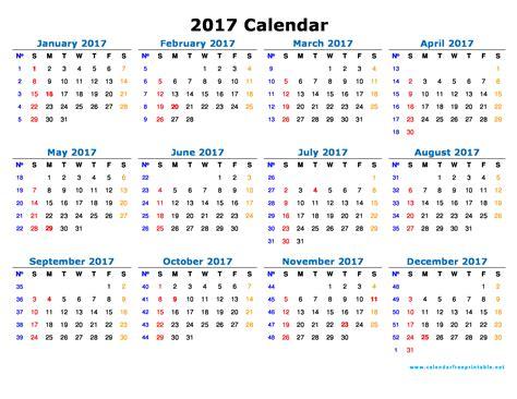Free Calendar Template 2017 2017 Calendar Template Calendar Free Printable