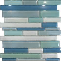 glass mosaic kitchen backsplash sle blue random linear glass mosaic tile kitchen backsplash spa sink wall ebay