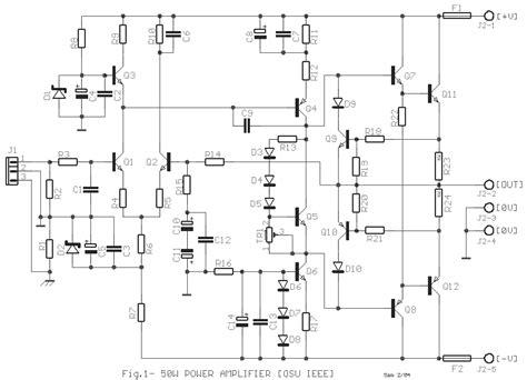 simple 50w electronic lifier circuit diagram