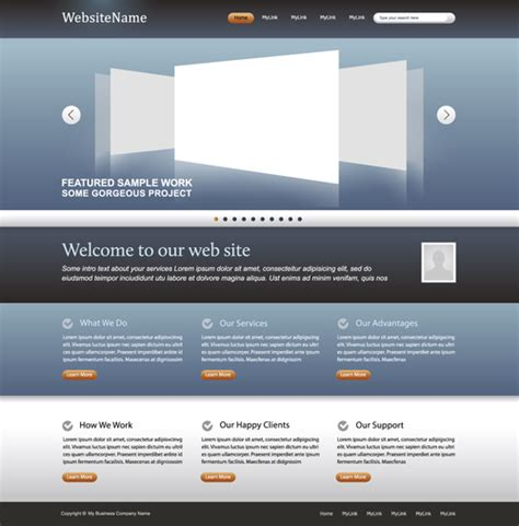 Simple Website Templates Simple Business Website Template Vector Free