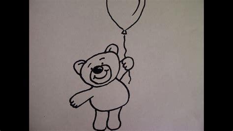 zeichnen ideen anfänger teddyb 228 r mit luftballon zeichnen zeichnen basteln zum muttertag