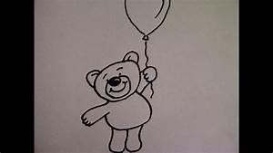 Ideen Zum Zeichnen : teddyb r mit luftballon zeichnen zeichnen basteln zum muttertag youtube ~ Yasmunasinghe.com Haus und Dekorationen