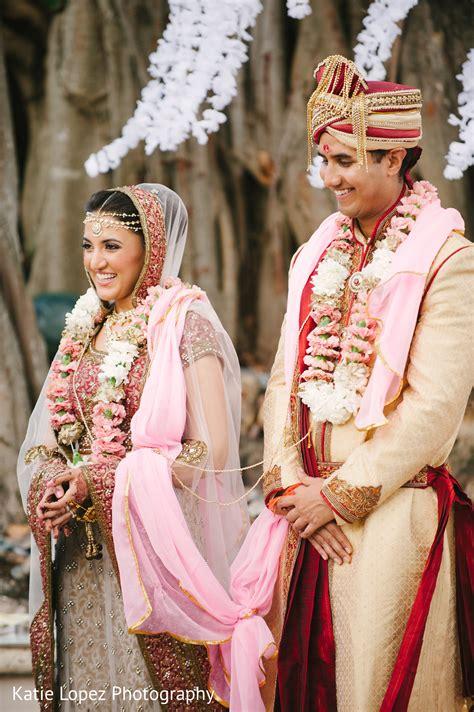 Wedding ceremony in Miami FL Indian Wedding by Katie