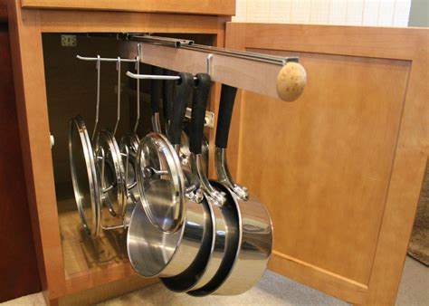 pots and pans rack cabinet pull out under cabinet hanging pot and pan lid rack