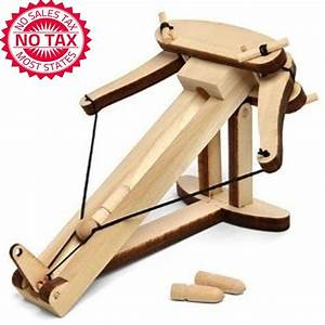 Kit Wooden Warfare Ballista Catapult Weapon Desktop