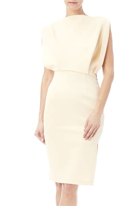 What Is A Boat Neck Dress by Fewmoda Cream Boat Neck Dress From Illinois By The Look