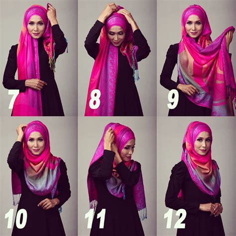 model jilbab segi 4 tutorial cover chest