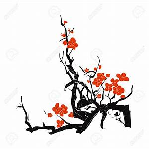 White plum blossoms clipart - Clipground