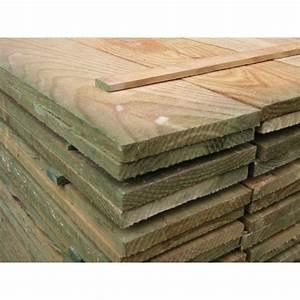 Poteau Bois Rond 3m : planche volige 18x150mm brut trait autoclave marron 3m ~ Voncanada.com Idées de Décoration