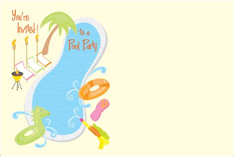 pool party invitations  personalized party invites