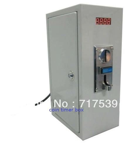 coin operated timer box with multi coin acceptor of 6