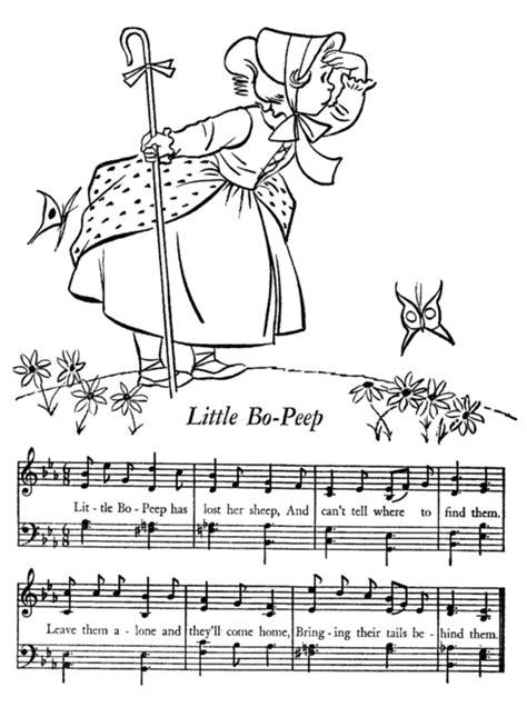 printable nursery rhymes lyrics sheet nursery rhymes