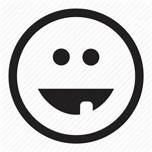 Emoticon, funny, grin, laugh, smile, tooth icon   Icon ...