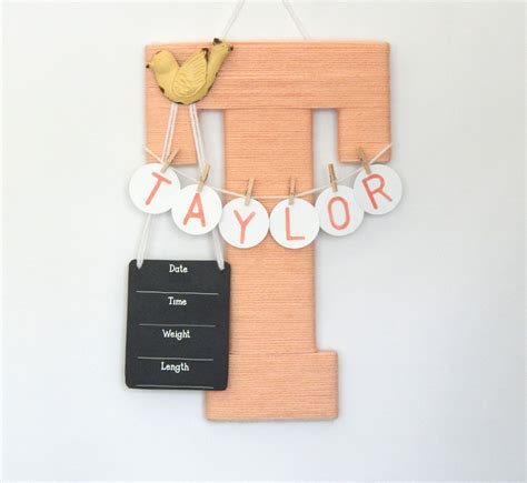 hospital door hanger baby hospital door hanger letter t personalized