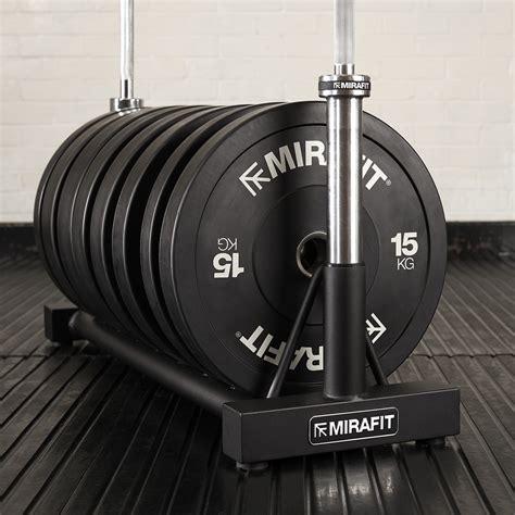 mirafit bumper plate rack weight disc floor storage gym bar barbell holder stand ebay