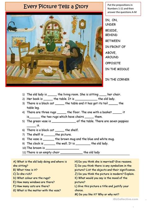 describe the picture worksheet free esl printable