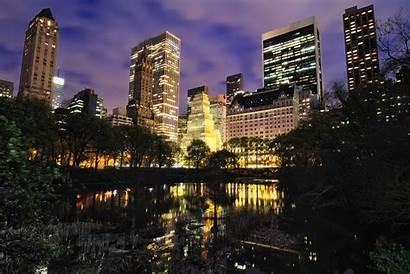 York Central Park Night Pond Flickr Nyc