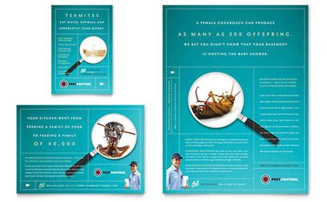 pest control services flyer ad template design