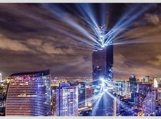 Thailand's tallest tower celebrates completion with lightshow