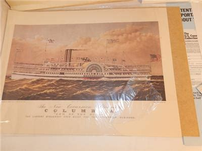 Steamboat Usps by Vintage Usps 1989 Steamboat Sts Currier Ives Print