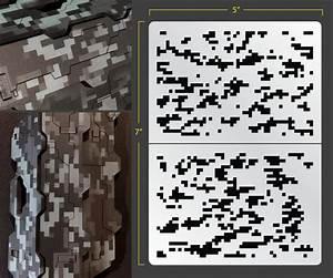 Digital Camouflage Airbrush Stencil 1 Masking Layout