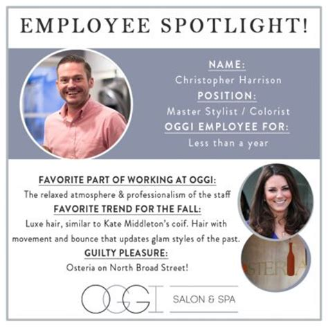 employee spotlight template employee spotlight chris oggi team employee recognition infographic and staff