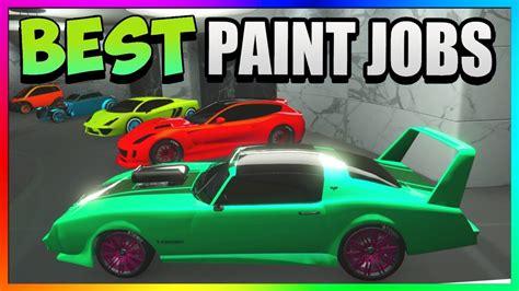 gta 5 top 5 best paint jobs car color schemes