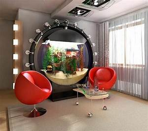 Deco Salon Pas Cher : l aquarium mural en 41 images inspirantes ~ Teatrodelosmanantiales.com Idées de Décoration