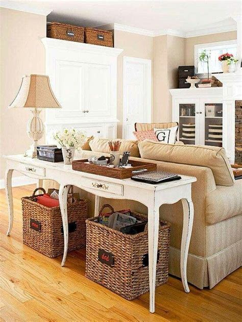 white sofa table with baskets sofa table with baskets sofa table with storage baskets