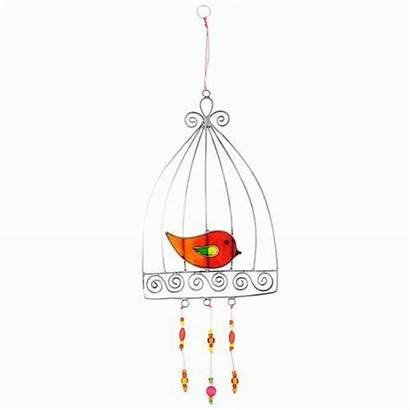 Stained Glass Bird Thatbohemiangirl Cage Orange Enjoy