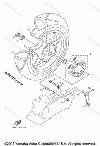 Yamaha Scooter 2011 Oem Parts Diagram For Rear Wheel