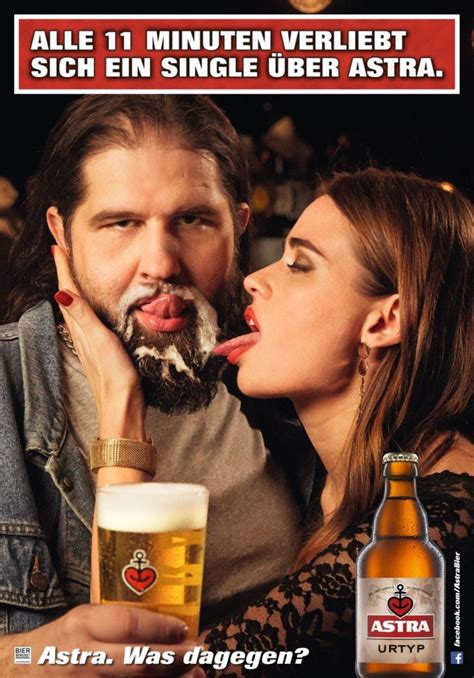 astra schaumbart bier werbung bier lustig bier