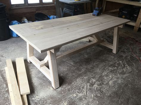 ana white  truss harvest table diy projects