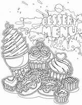 Dessert Adulte Coloriages Coloring Coloriage Menu Gratuit Adult Artherapie Colouring Printable Doodle Desserts Sheets Maduya Ausmalbilder Avec Fairy Freedesign sketch template