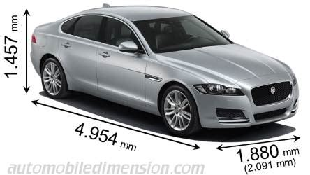 Jaguar Xf Length by Jaguar Xf 2016 Dimensions Boot Space And Interior