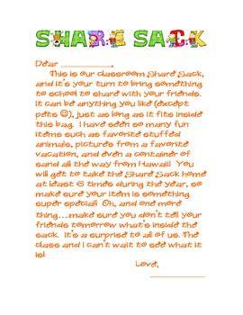 show and tell parent letter by sakel teachers 868 | original 467369 1