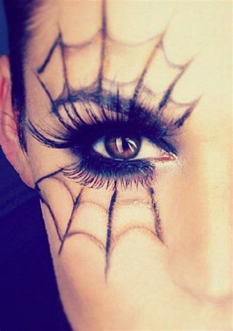 selbstgemachtes make up 25 spiderweb themed makeup ideas that will turn heads on