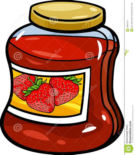 Jam In Jar Cartoon Illustration Stock Vector