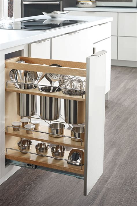 base utensil pantry pull  cabinet schrock cabinetry