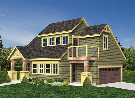 vacation cottage  carriage house sw architectural designs house plans