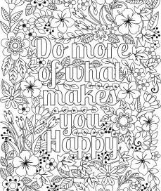 Adult Coloring Page Forward