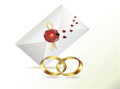 wedding invitation  rings powerpoint templates love